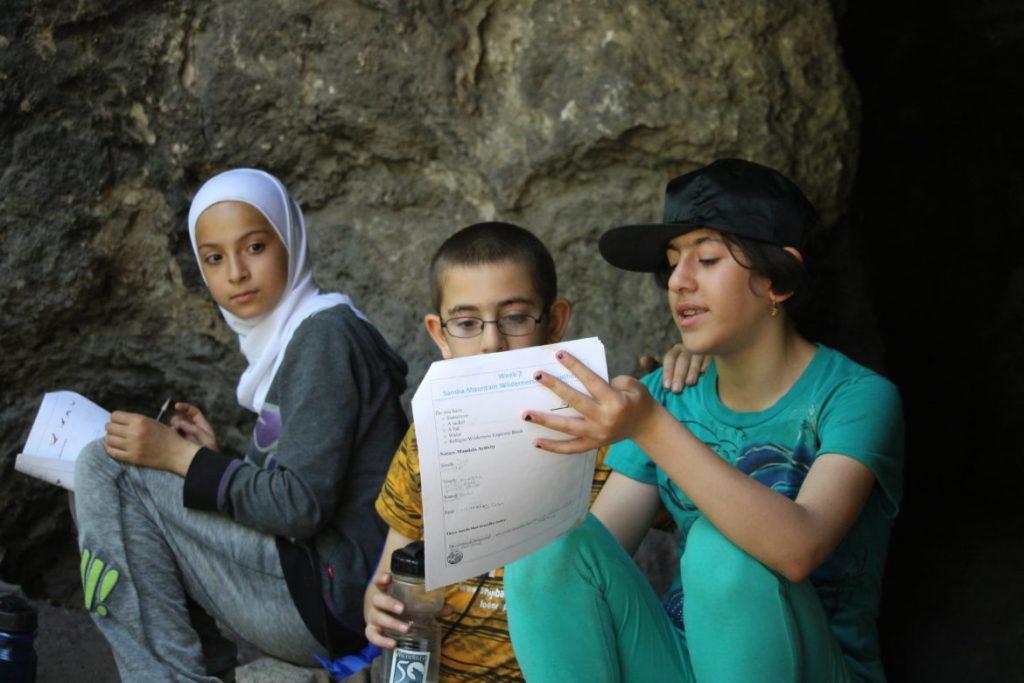 Children in the program visit Sandia Mountain Wilderness.
