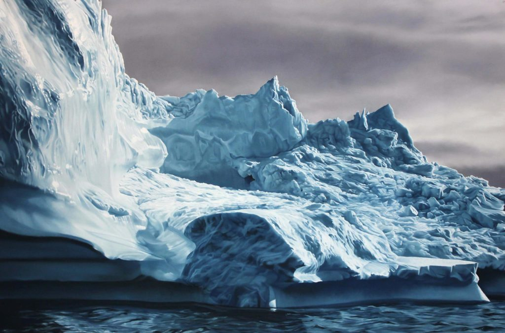 Zaria Forman painting to show Climate Change