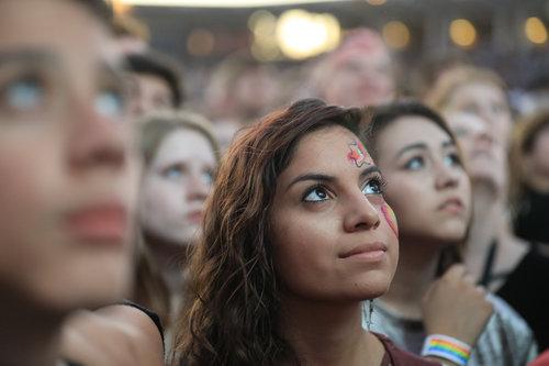 Love Loud Fest attendee. Photo: Jay Drowns / UVU Marketing.